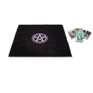 tapete terciopelo negro 80 x 80 cm pentagrama