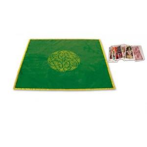 tapete terciopelo verde 80 x 80 cm celta